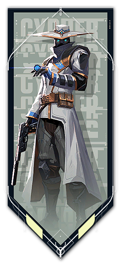 Cypher player card · Valorant Cypher