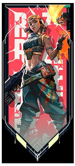 Raze player card · Valorant Raze