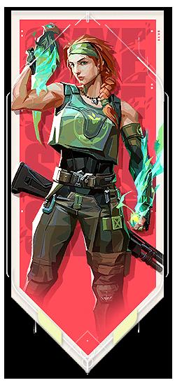 Skye player card · Valorant Skye