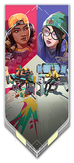 Killjoy player card · VERSUS // Raze + Killjoy
